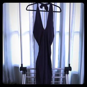 NWOT American Apparel Deep V Halter Dress